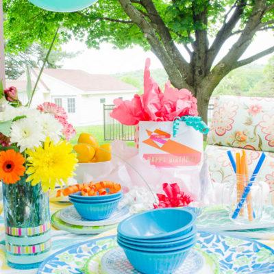 Summer Outdoor Entertaining {birthday party}