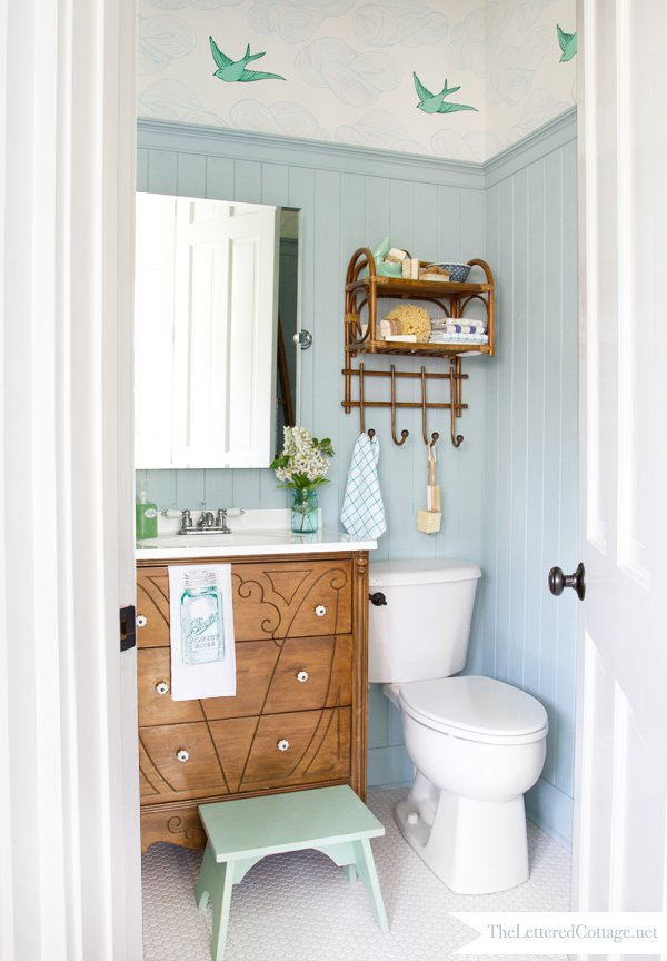 Finest TRY THIS: a High Style Half Bath Makeover - Four Generations One Roof EU39