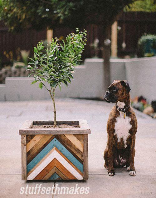 reclaimed-wood-chevron-planter