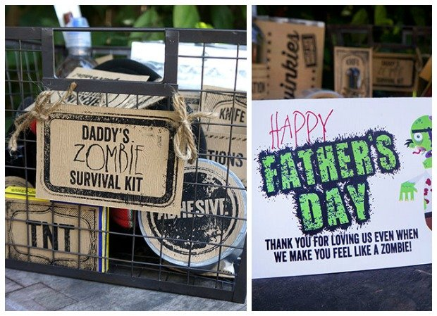 Daddy's Zombie Survival Kit at Popsicle Blog