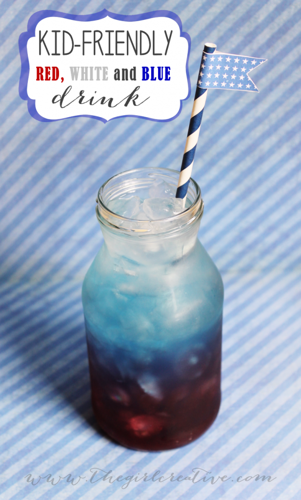 Red-White-and-Blue-drink-for kids fourth of july party ideas