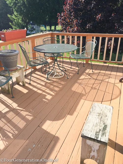 Surprise deck makeover for my gram {starts today - before}