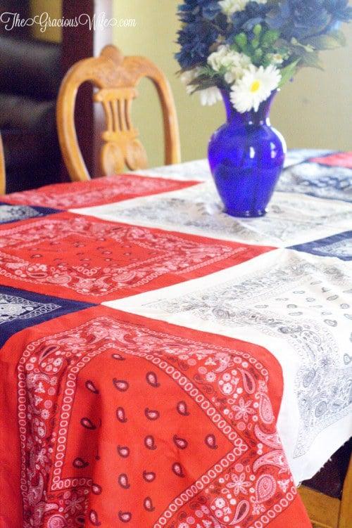 bandana-tablecloth fourth of july party ideas