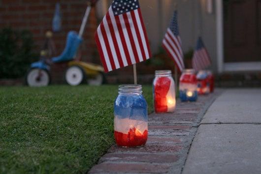 mason-jar-luminaries fourth of july party ideas