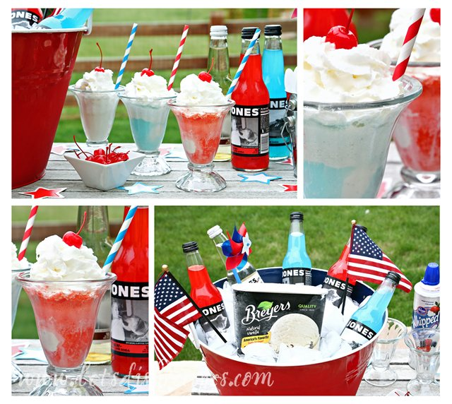 soda-bar-collage-july-4 fourth of july party ideas
