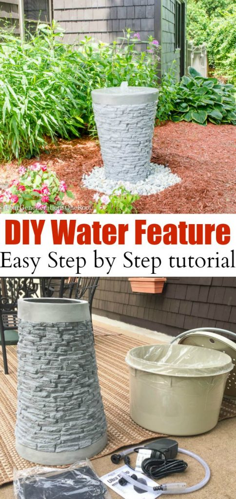 How to Install a Water Feature {our garden water fountain ...