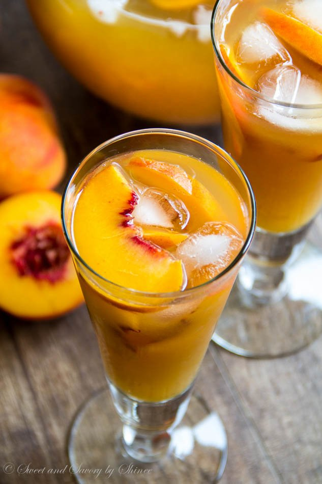 Peach Rosemary Iced Tea & Blueberry Iced Tea Recipe — Dishmaps