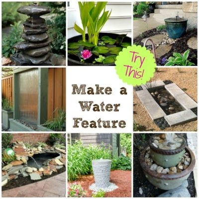 TRY THIS: Install a Water Feature