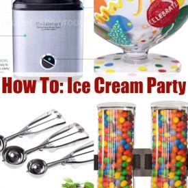 ebay how to ice cream party