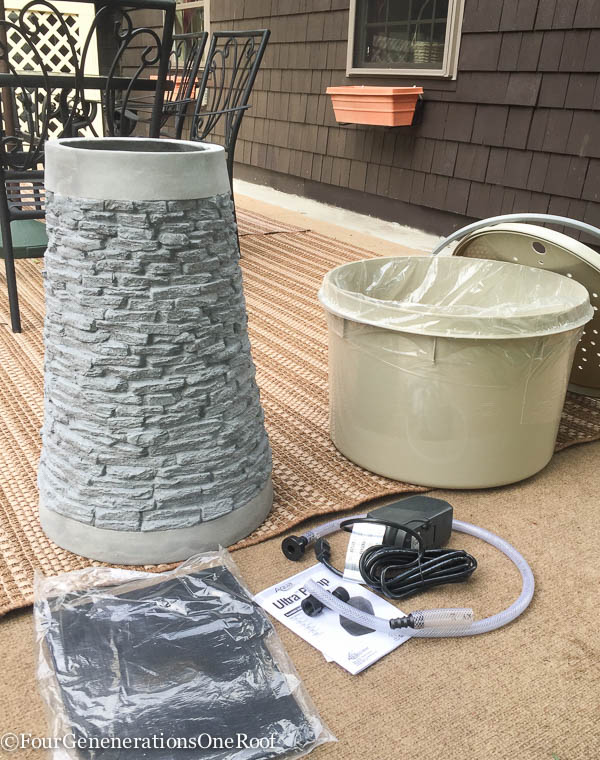 how to install a garden water feature in under 20 minutes {water fountain}. If you can dig a hole faster than me, it will take you less than 20 minutes. Adding a water feature to any garden or yard is a great way to add visual appeal and character to a space.