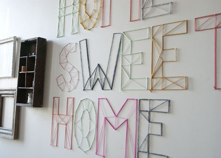 String Wall Art try this: diy string art - four generations one roof