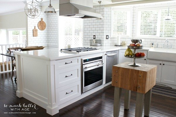 40 amazing diy kitchen renovations four generations one roof for Vintage industrial style kitchen