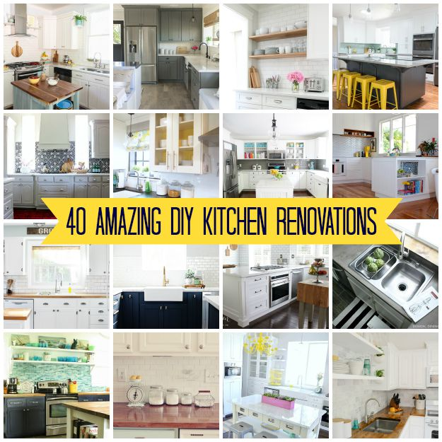 40 Amazing DIY Kitchen Renovations - Four Generations One Roof