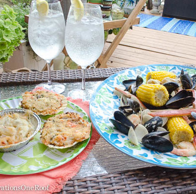 Our Maine Shore Seafood Bake at the camp {Harry & David}