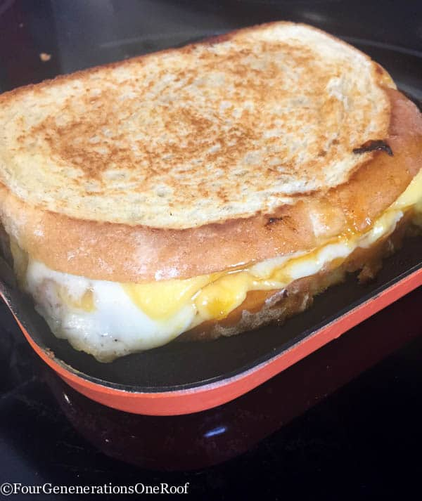 10 minute grilled cheese with apricot -15