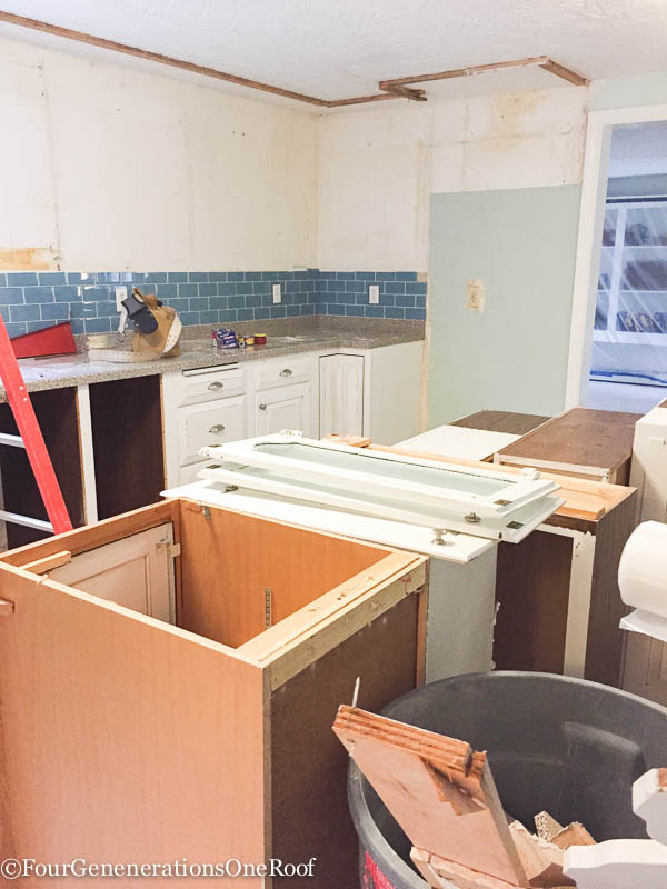 DIY Kitchen Renovation Series Ripping Out The Old Cabinets Four Generatio