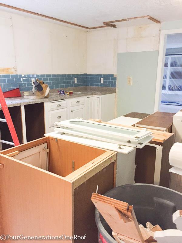 DIY Kitchen Renovation {ripping Out Old Cabinets}. Bye Bye 1960u0027s Kitchen