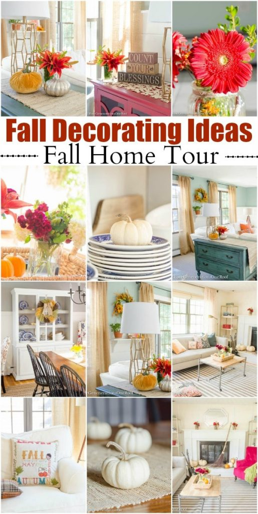 Fall Decorating Ideas Fall Home Tour 2015 Four Generations One