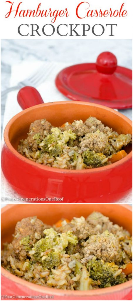 Hamburger casserole crockpot comfort food