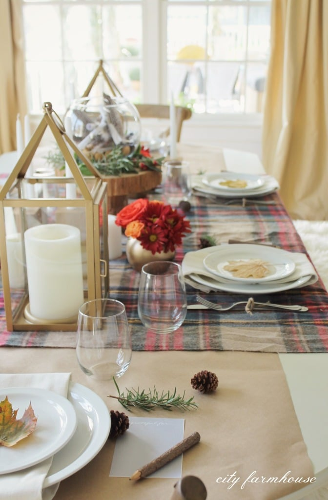 Rustic-Chic-Fall-Table-plaid-paper