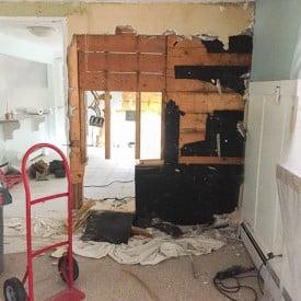 diy kitchen renovation series {ripping down wall}-21