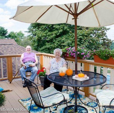Gram's Fall Porch Makeover {Surprise Gram!}