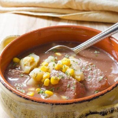 Crockpot Beef Stew with Corn