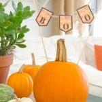 Decorating with pumpkins {free halloween printable} Boo printable