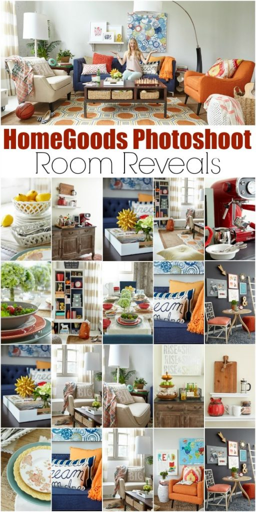 HomeGoods Photoshoot: Room Reveals: Homegoods photo shoot {style challenge} How to create a gorgeous family room, chalkboard wall, grab and go station and a dining tablescape that serves multiple functions with everything from HomeGoods. Great decorating tips that anyone can do.