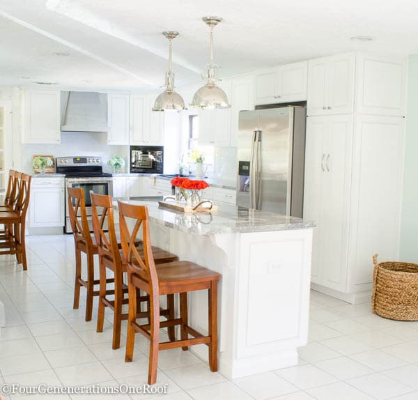 Our Beach House Kitchen The Reveal: Our DIY Kitchen Renovation Reveal {before & After}