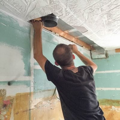 Our Kitchen Renovation Series {installing hood vent}