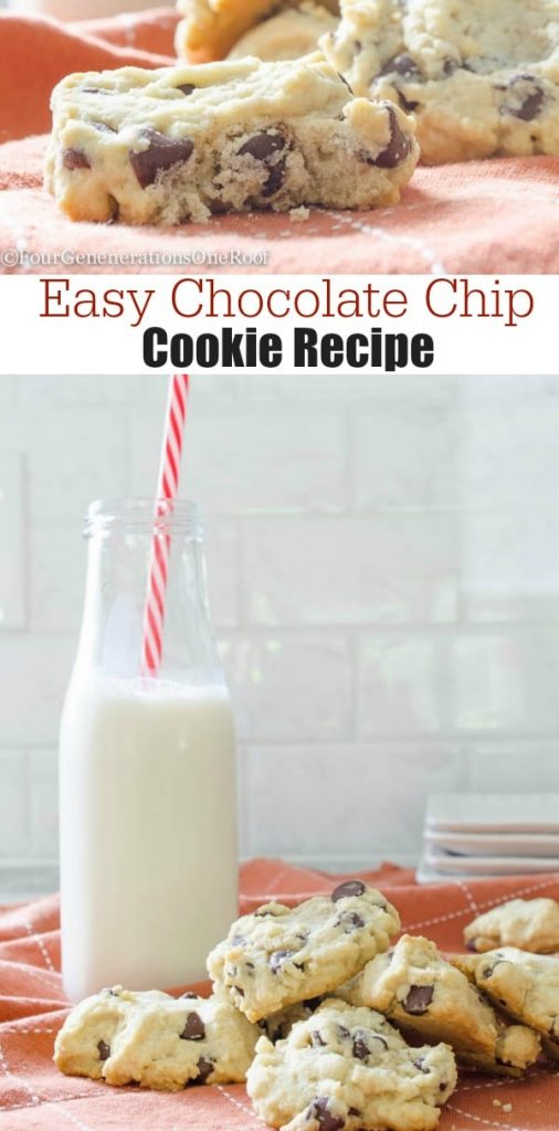 Our Delicious Chocolate Chip Cookies {quick & easy} - Four Generations ...