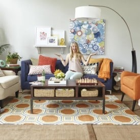 Homegoods photo shoot {style challenge} How to create a gorgeous family room that serves multiple functions with everything from HomeGoods