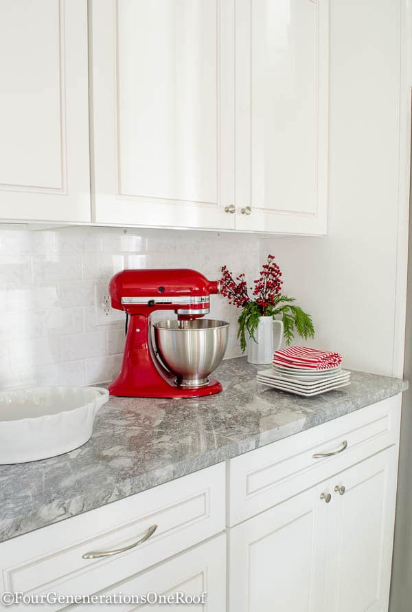 our christmas kitchen 2015 boxwood wreaths red velvet ribbon boxwood christmas tree - Red Kitchen 2015