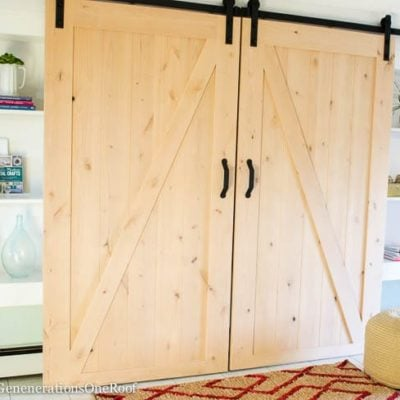 Our DIY Sliding Barn Doors {tutorial}