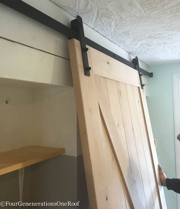 Our Diy Sliding Barn Doors Tutorial Four Generations