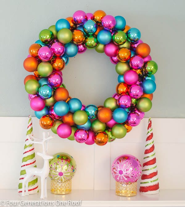DIY-colorful-ornament-wreath