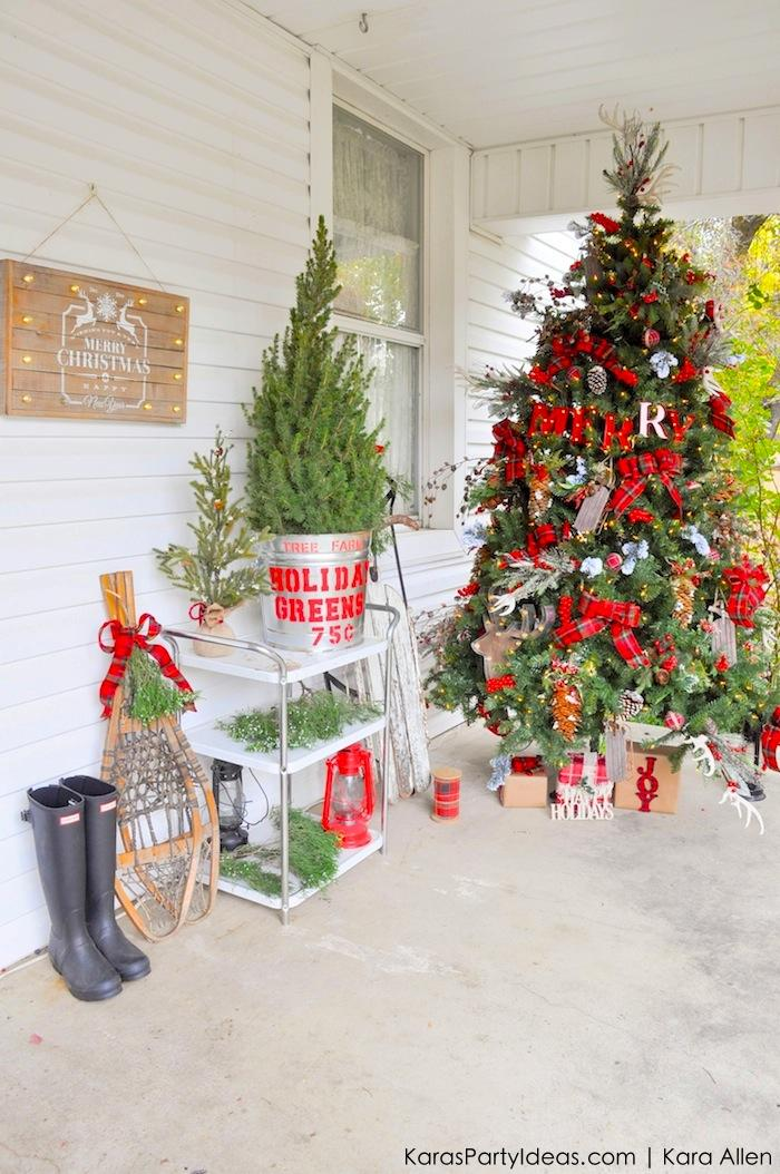 rustic plaid farm house cabin christmas tree by - 75 White Christmas Tree