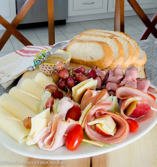 how to make a meat and cheese platter filled with premium meats and cheeses