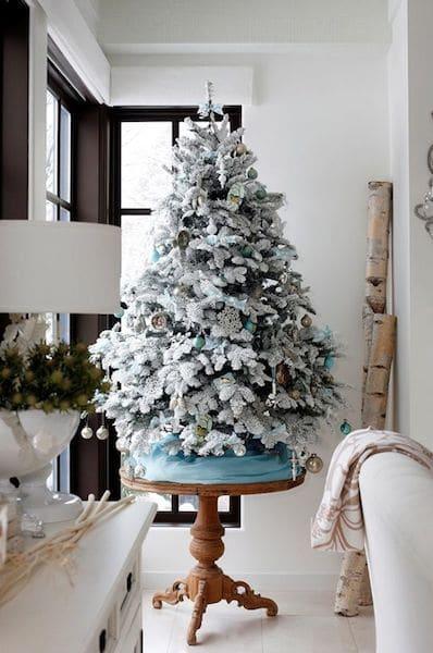 simple flocked small tree - Small Flocked Christmas Tree