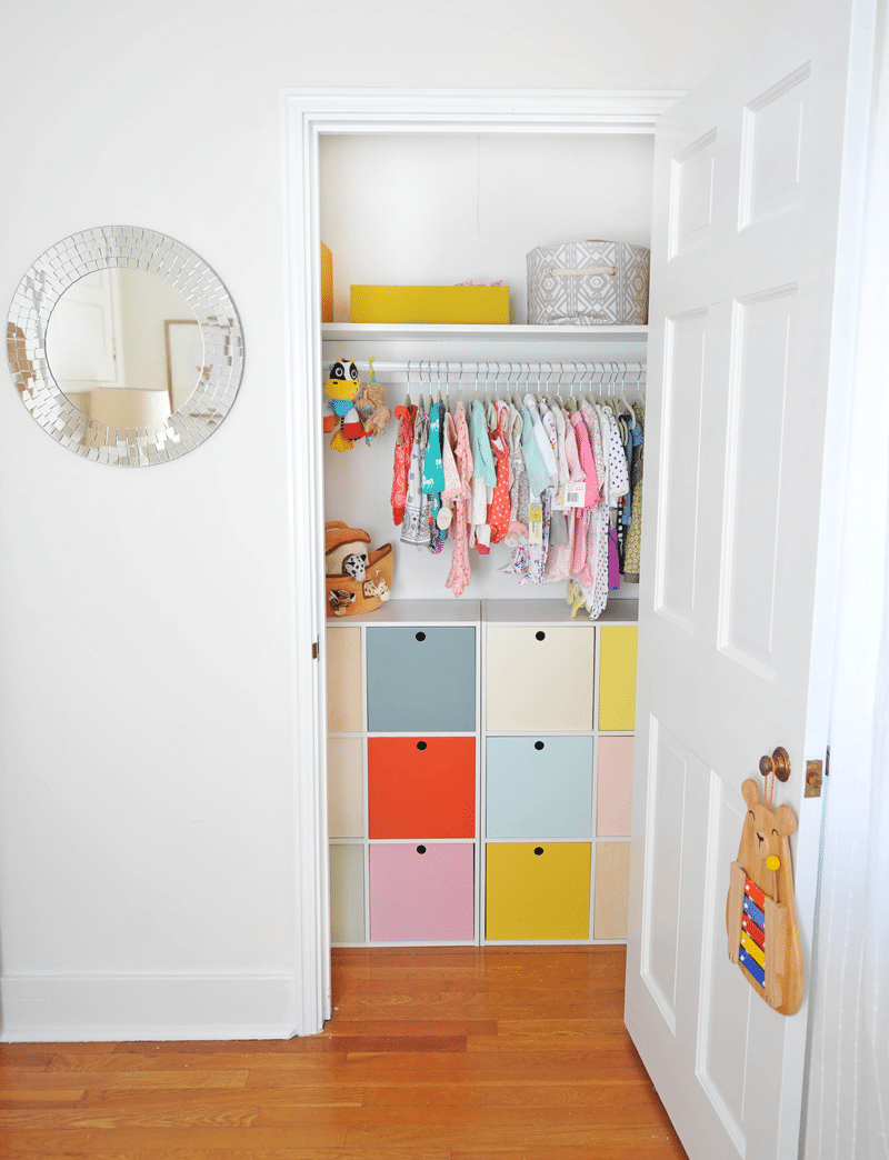 36 Tips for Getting Organized in 2016 DIY-Nursery-Closet-Cubes