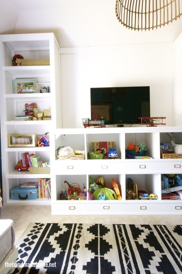 36 Tips for Getting Organized in 2016 DIY-toy-storage-cubbies
