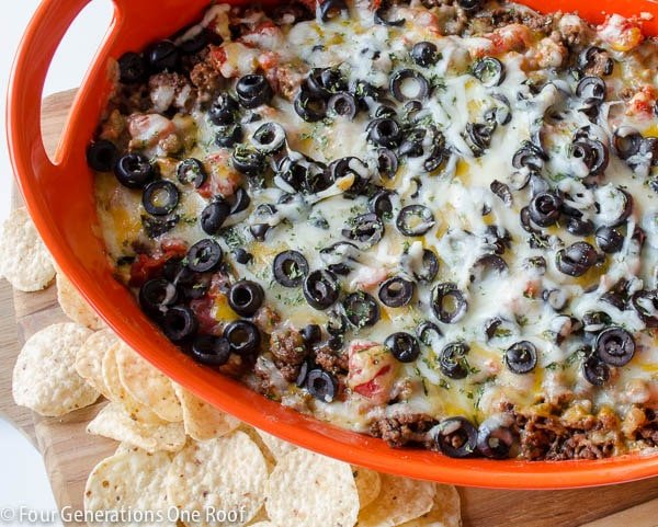 Easy-Mexican-Layer-Hot-Cheese-Dip-amazing appetizer recipes