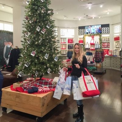 Holiday Shopping Copley Place Boston {Lands' End Pop Up Store}