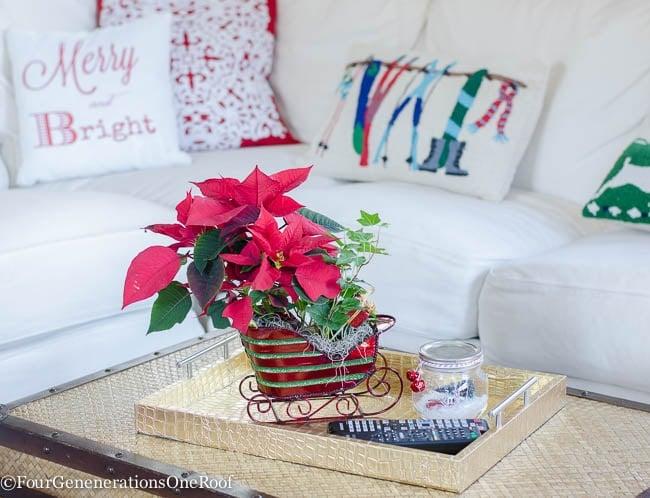 Red + White Christmas Family Room 2015