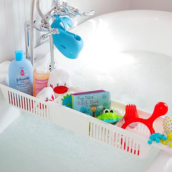 36 Tips for Getting Organized in 2016 bath-toy-storage