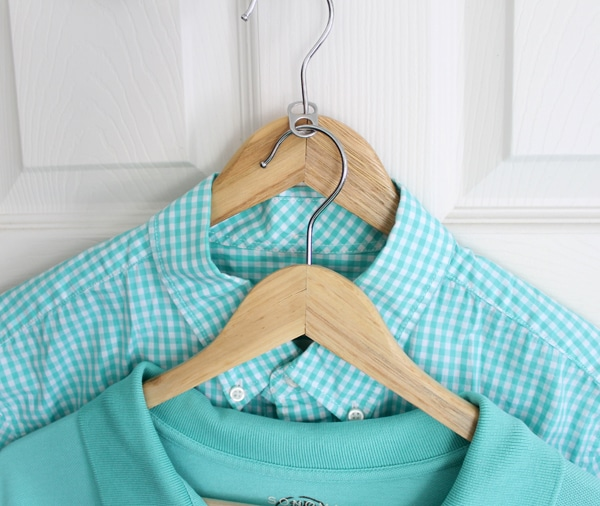36 Tips for Getting Organized in 2016 closet-hacks-use-a-soda-tab-to-double-the-hangers