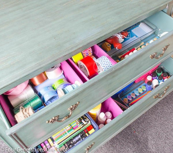 36 Tips for Getting Organized in 2016 small-space-craft-storage