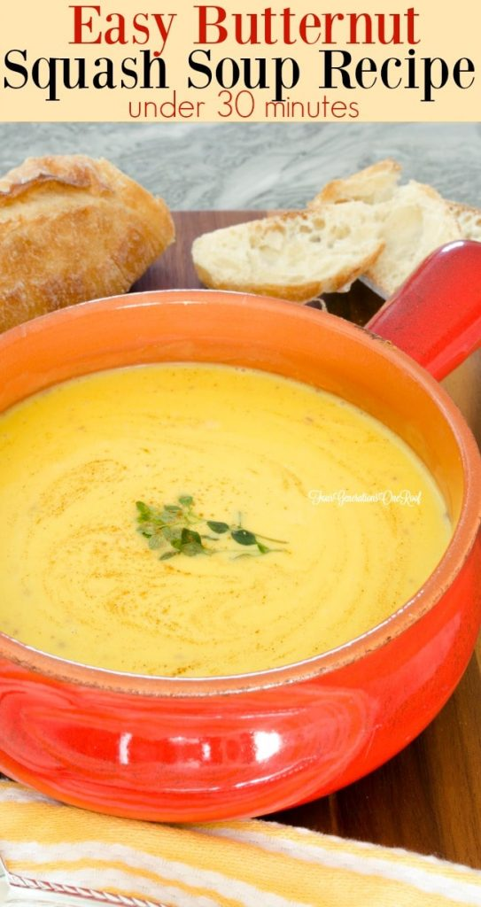 Easy butternut squash soup recipe - under 30 minutes