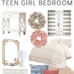 teen girl bedroom makeover mood board sources